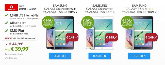 samsung galaxy s6 angebot bei sparhandy. Black Bedroom Furniture Sets. Home Design Ideas