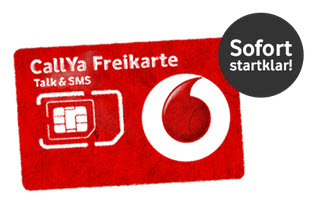 vodafone callya freikarte gratis prepaid handykarte. Black Bedroom Furniture Sets. Home Design Ideas