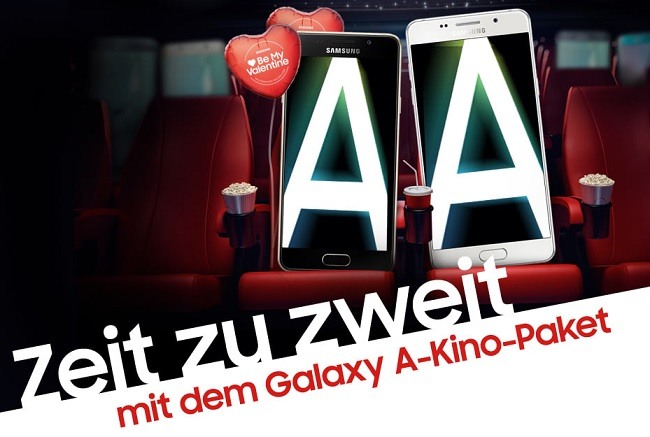 samsung zeit zu zweit a3 und a5 kino gutschein aktion. Black Bedroom Furniture Sets. Home Design Ideas