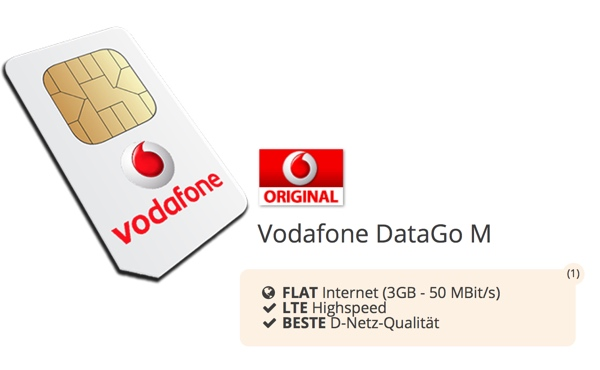vodafone data go m mit 3 gb lte f r 4 37. Black Bedroom Furniture Sets. Home Design Ideas