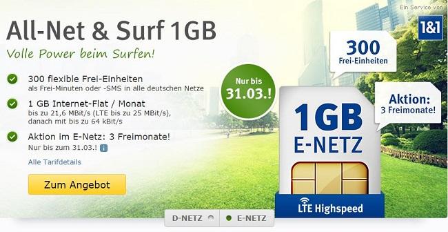 WEB.DE All-Net & Surf 1 GB