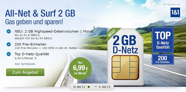 gmx all-net & surf 2 GB