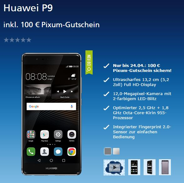 Huawei P9 Mit O2 Blue All In Handyvertrag