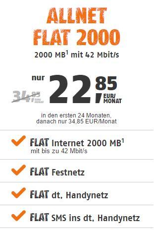 klarmobil Allnet FLat 2000 2