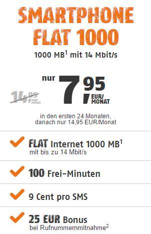 klarmobil Smartphone Flat 1000