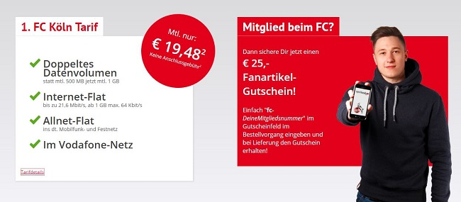 1. FC Köln Handy-Tarif