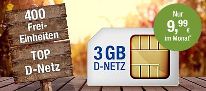 GMX All-Net & Surf 3 GB