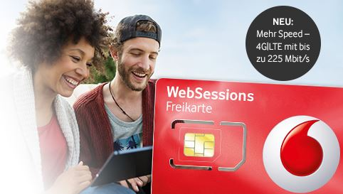 vodafone websession prepaid freikarte mit 225 mbit s. Black Bedroom Furniture Sets. Home Design Ideas