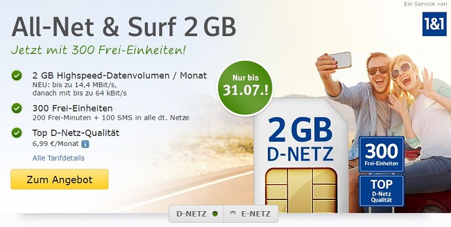 Web.de All-Net & Surf 2 GB
