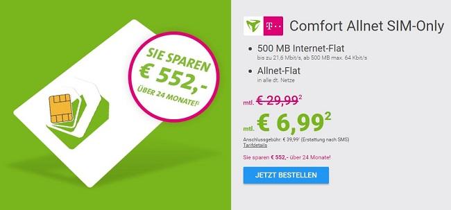 comfort Allnet Sparhandy Telekom