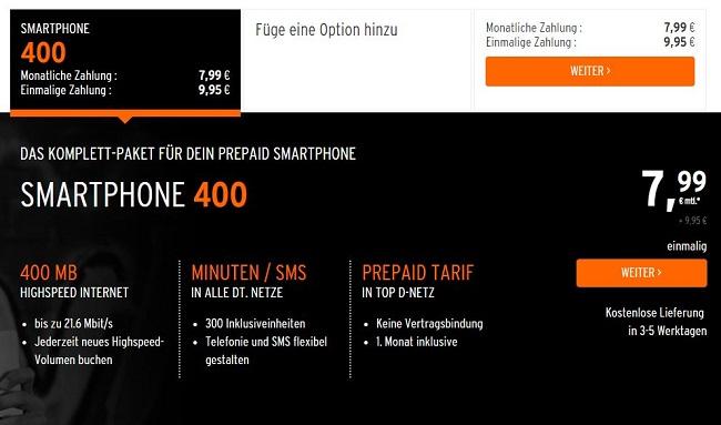 otelo Smartphone 400 Prepaidtarif