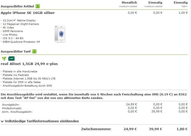mobilcom-debitel real Allnet Tarif
