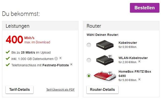 Vodafone Internet & Phone 400 V