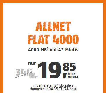klarmobil Allnet Flat 4000