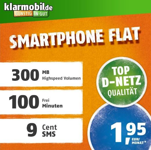 klarmobil Smartphone Flat S