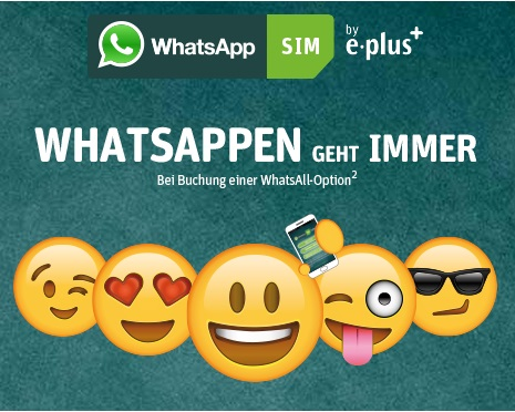 WhatsApp SIM mit WhatsApp Flat