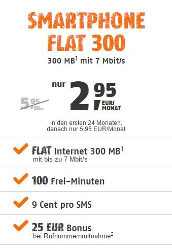 klarmobil Smartphone Flat 300