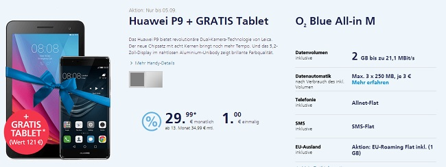 o2 gratis Tablet