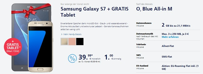 o2 gratis Tablet Samsung