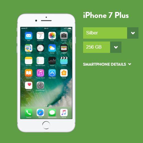 iphone 7 plus mit base pro vertrag und 5 gb lte nur 44 99. Black Bedroom Furniture Sets. Home Design Ideas