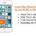 simyo Blau Allnet XL mit iPhone SE