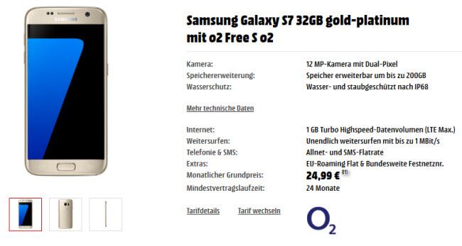 O2 Free S Samsung Galaxy S7 Ab Mtl 1999 Bei Media Markt